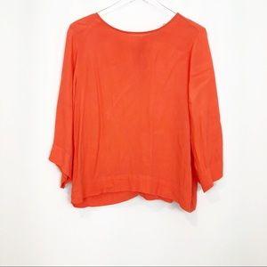Sam and Lavi orange sorbet half sleeve blouse M